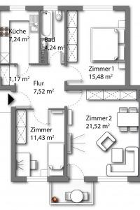 Wohnung vom Typ 5